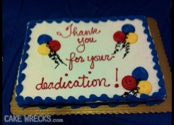 Retirement cake blunder